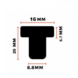 Rubber deurdemper, deurstopper 9mm (type 3)