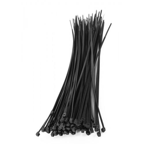 Tie wraps  set black, 75 pieces
