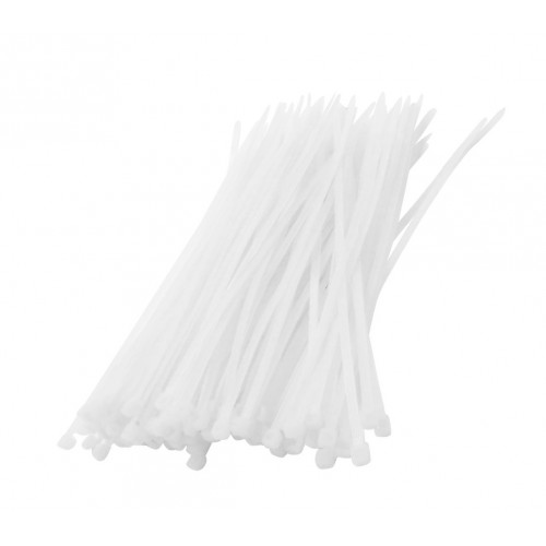 Tie wraps (kabelbinders) set weiss, 75 teilig