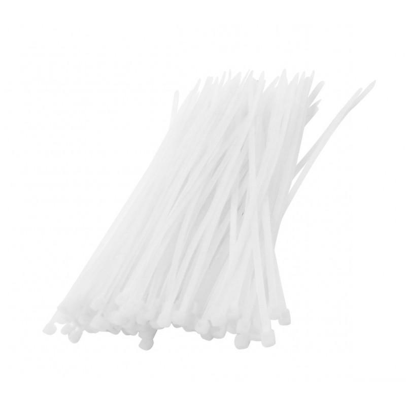 Tie wraps (kabelbinders) set wit, 75 delig