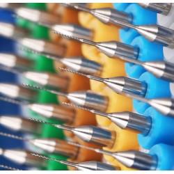 Micro boortjes set in doosje (0.3 mm, 10 stuks)