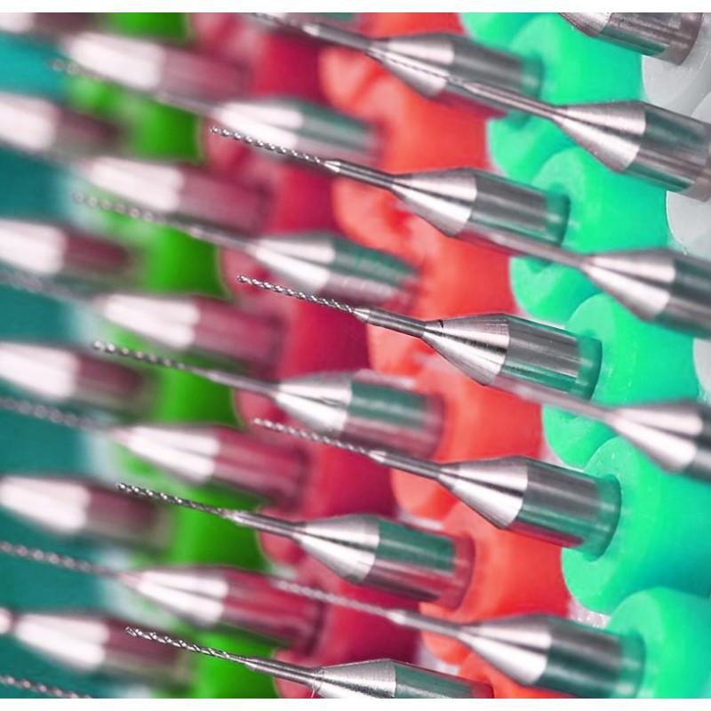 Micro boortjes set 7 (0.4 mm, 10 stuks)