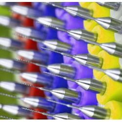 Micro boortjes set in doosje (0.5 mm, 10 stuks)