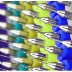 Micro boortjes set in doosje (0.6 mm, 10 stuks)