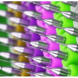 Micro boortjes set in doosje (0.8 mm, 10 stuks)