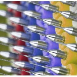 Micro boortjes set in doosje (1.0 mm, 10 stuks)