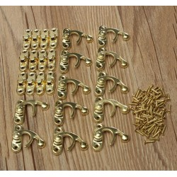 Small golden chest latch, lock set