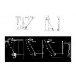 Gas spring 700N/70kg