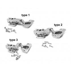 Cabinet hinge half overlay, type 2