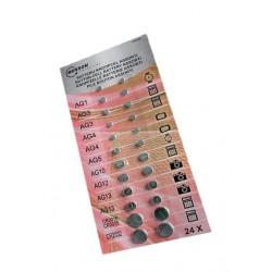 Knoopcel batterijen, grootverpakking