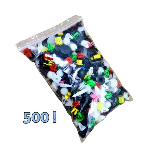 Auto clips assortiment (universeel, 500 delig)