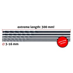 Metal drill bit extreme length (6.0x300 mm!)