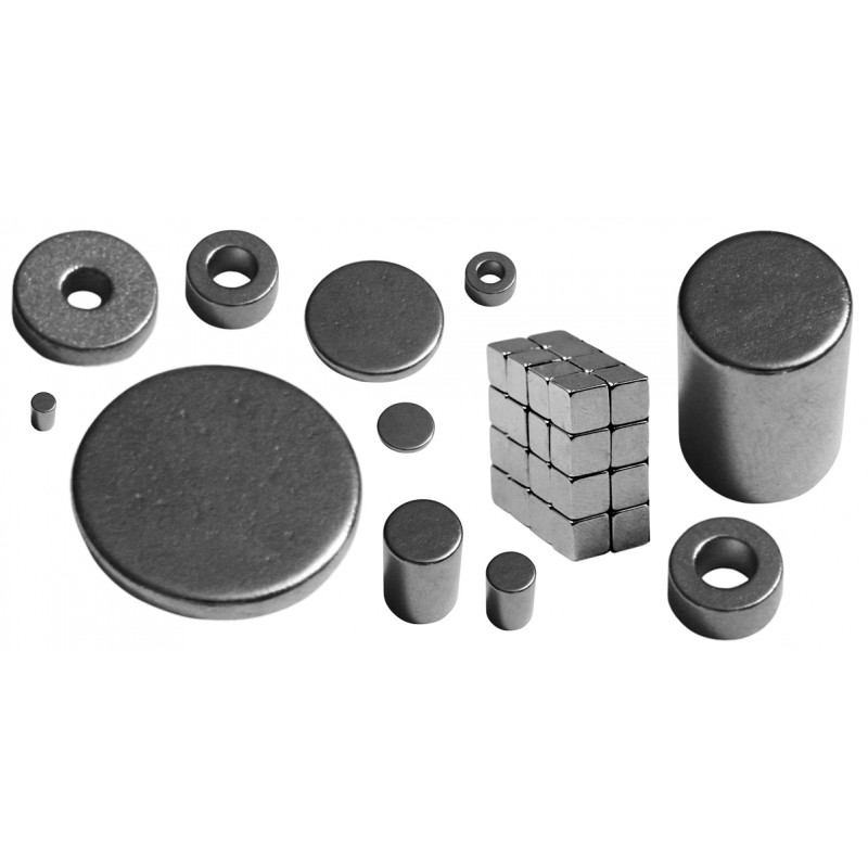 Zeer sterke magneet, kubusvorm 3 x 3 x 3 mm