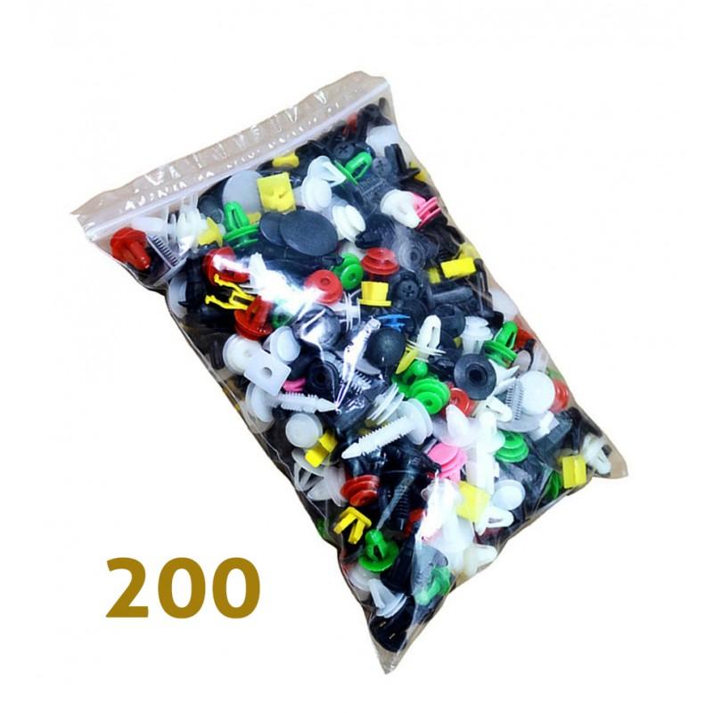 Auto-Clips und Stecker, universal, 200 Stück