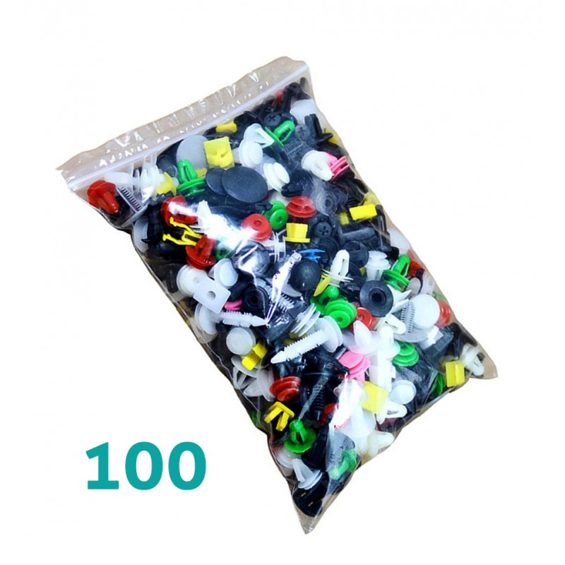 Universal car clips set (100 pieces)