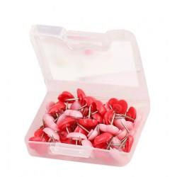 Punaises: Mischung aus 240 rosa und roten Herzen in box