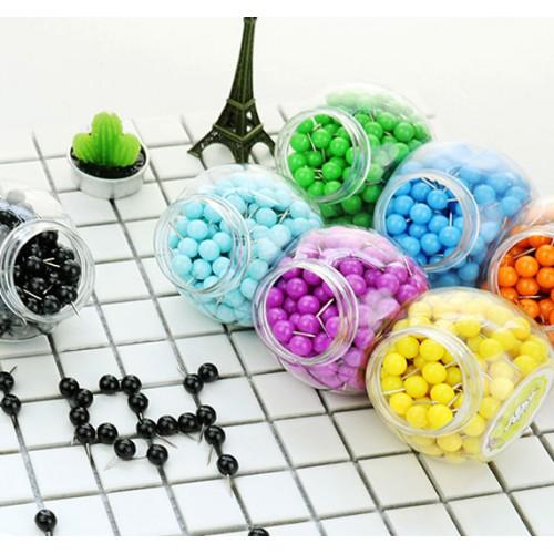 Push pins ball: white, 150pcs