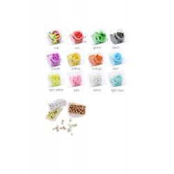 Punaises met bolle kop, mix groen/wit, 150 stuks