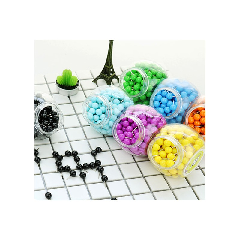 Push pins ball: silver, 70pcs - Wood and Tools