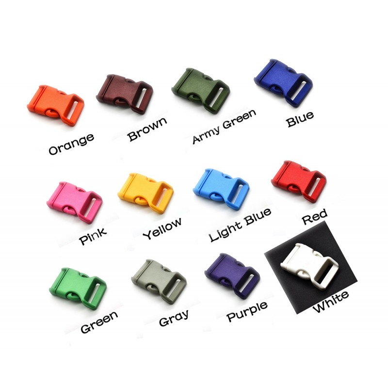 Colorful buckle (plastic) red brown
