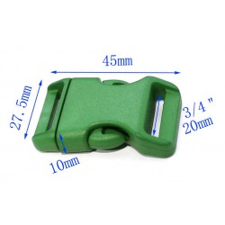 Kunststoffschließe für Gürtel und Tasche, grün
