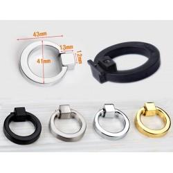 5 x Metalen ring (geborsteld), handgreep voor kast en lade