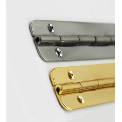 Extra wide hinge silver color
