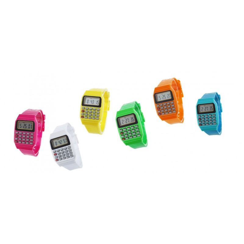Calculator watch retro 80's: white