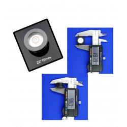 Mini-Wasserwaage mit Kunststoffgehäuse (20x10mm)
