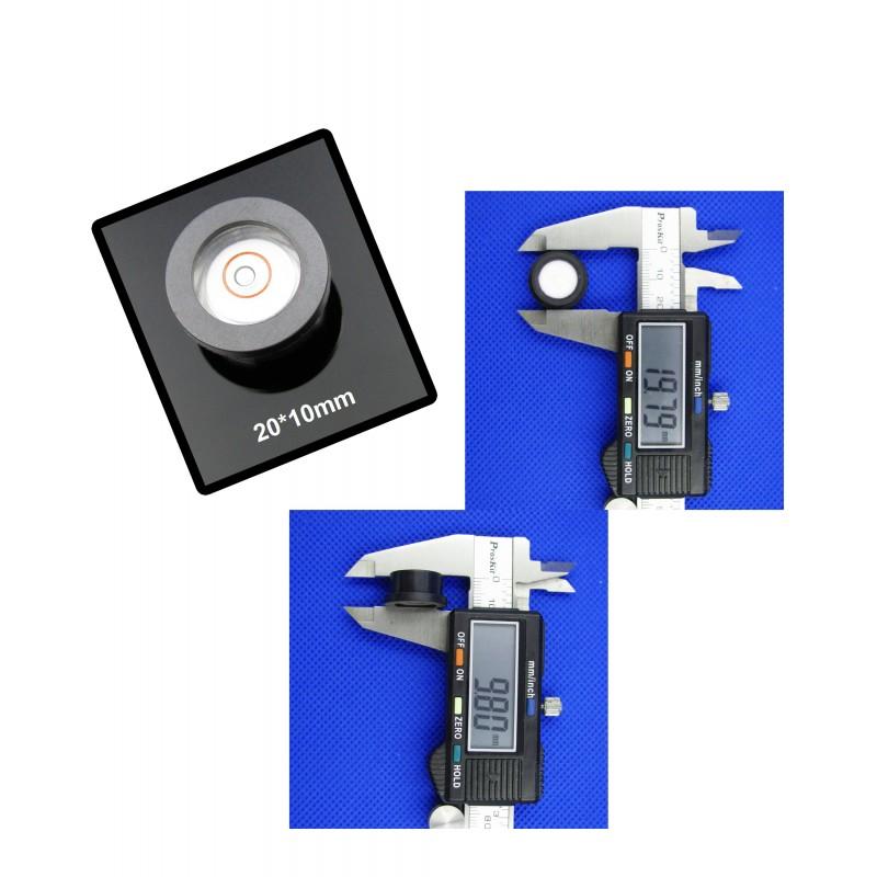 Mini ronde waterpas met kunststof kast (20x10mm)