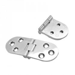 Metalen zilverkleurige scharnier (30mm x 80mm)