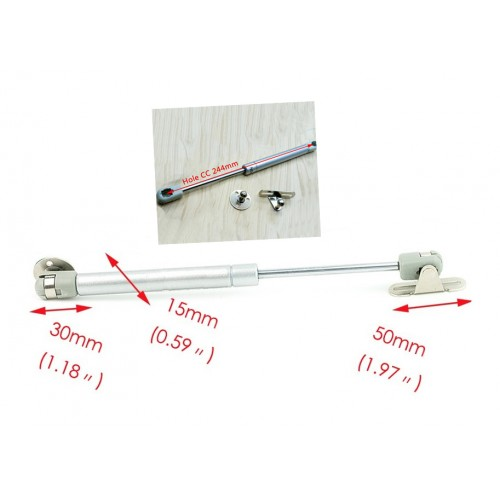 Gasfeder (Gasfeder) 50N/5kg, 250mm, silber