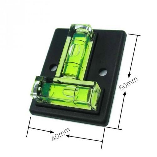 Kruiswaterpas vierkant met schroefgaten (zwart)