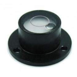Schwarze Wasserwaage im Metallgehäuse