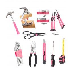 Leuk kado voor vrouwen: gereedschapset voor dames (39 dlg)