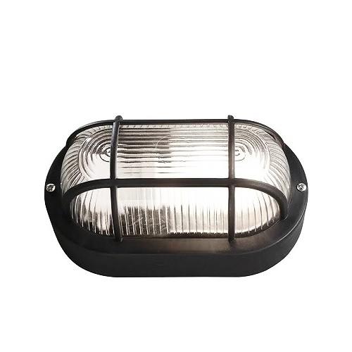 Bullseye lamp, zwart E27 (bulleye, waterdicht, ook voor buiten)