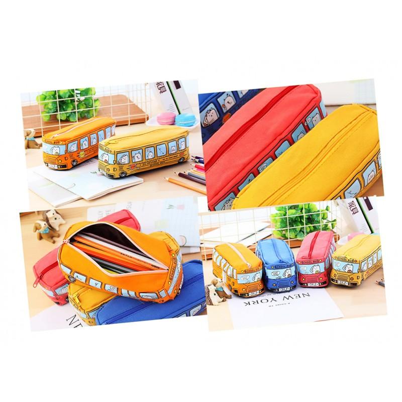Grappig etui (bus) voor werk en school: oranje