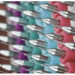 Micro boortjes set in doosje (0.25 mm, 10 stuks)