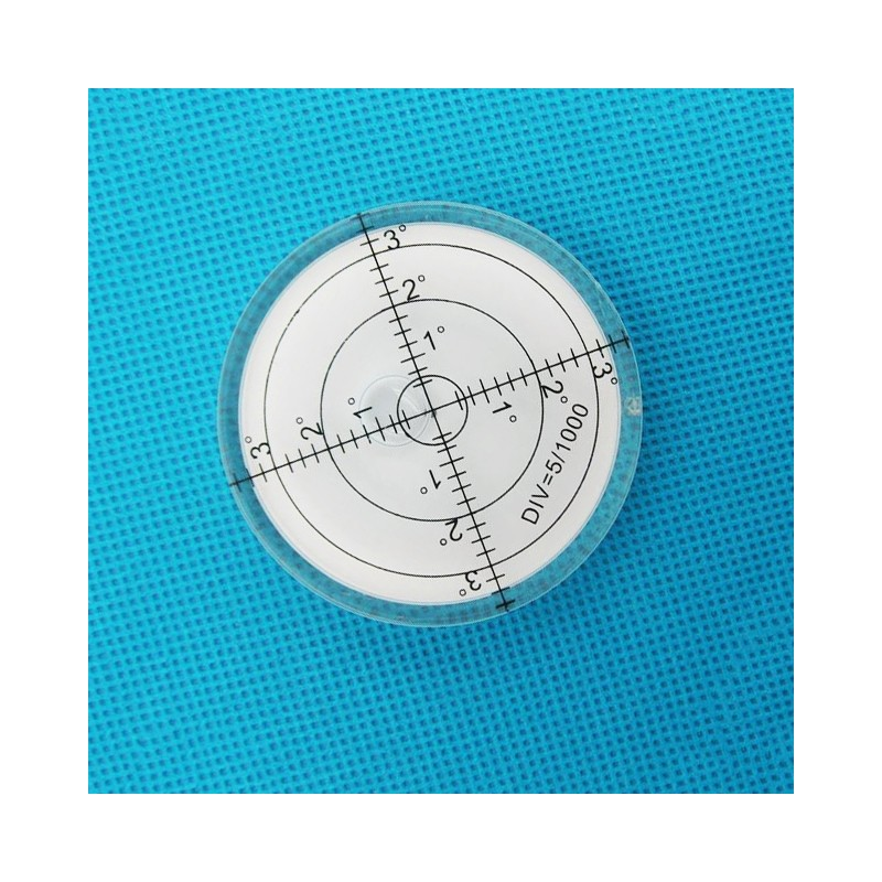 Round bubble level tool 60x12 mm white