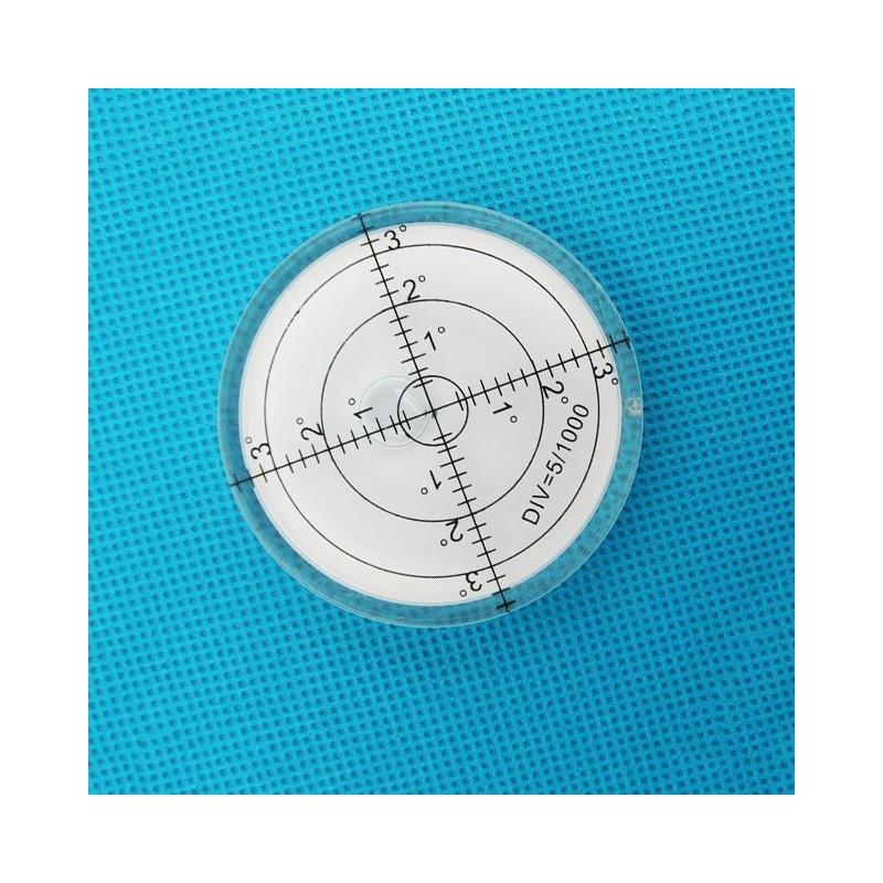 Runde Wasserwaage 60x12 mm weiß