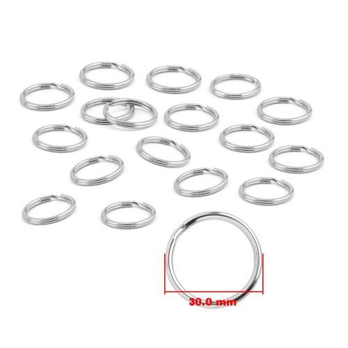 Sleutelring, ring voor sleutelhangers, 30mm vernikkeld