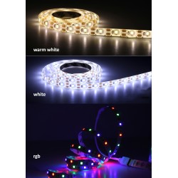 USB LED strip (2m), type 1: warm white and waterproof