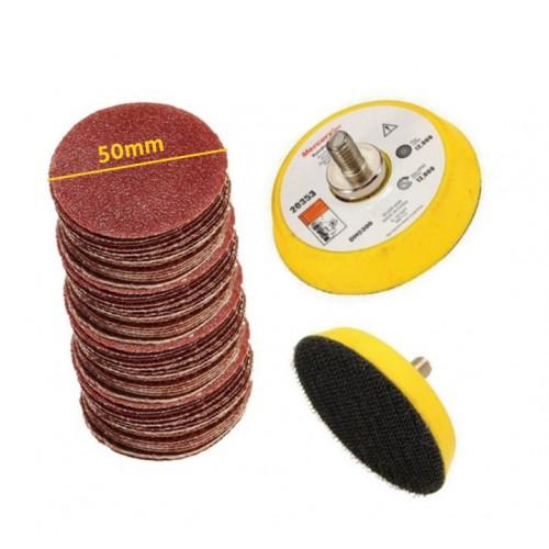 10 schuurschijfjes (50mm) klittenband, korrel 60
