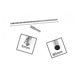 HSS metal drill bit extreme length (5.0x300 mm!)