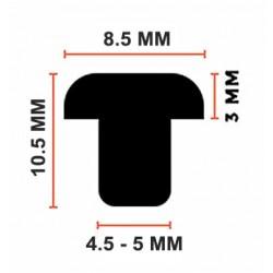 Rubber doordamper, doorstopper 5mm