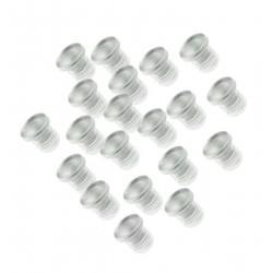 Mini-Gummi-Türdämpfer, Kappen 5mm, 100 Stück (Typ 1)
