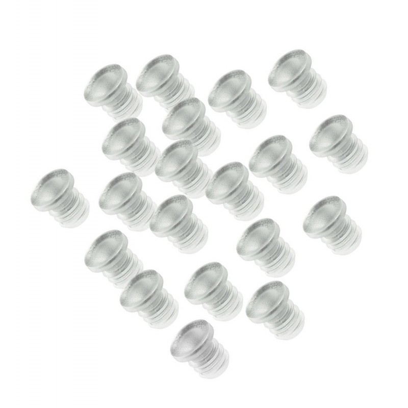 Mini rubber deurdempers 5mm, 100 stuks (type 1)