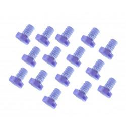 Mini-Gummi-Türdämpfer, Kappen 9mm, 30 Stück (Typ 3)