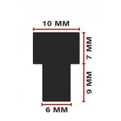 Mini-Gummidämpfer, Kappen 6mm, 50 Stück (Typ 4)