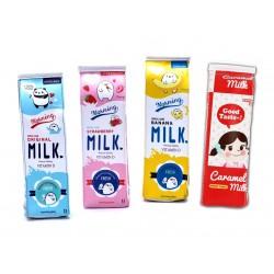 Lustiger Koffer (Milchkarton) für Arbeit und Schule: pink
